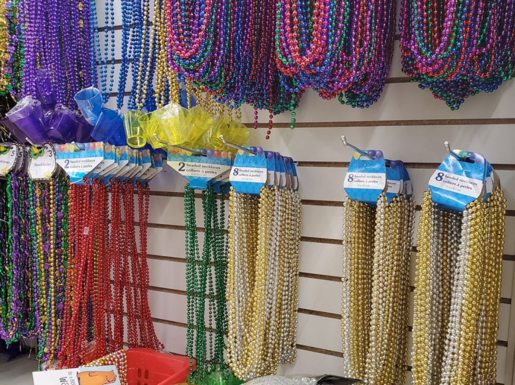 Beaded necklaces at Dollar Tree