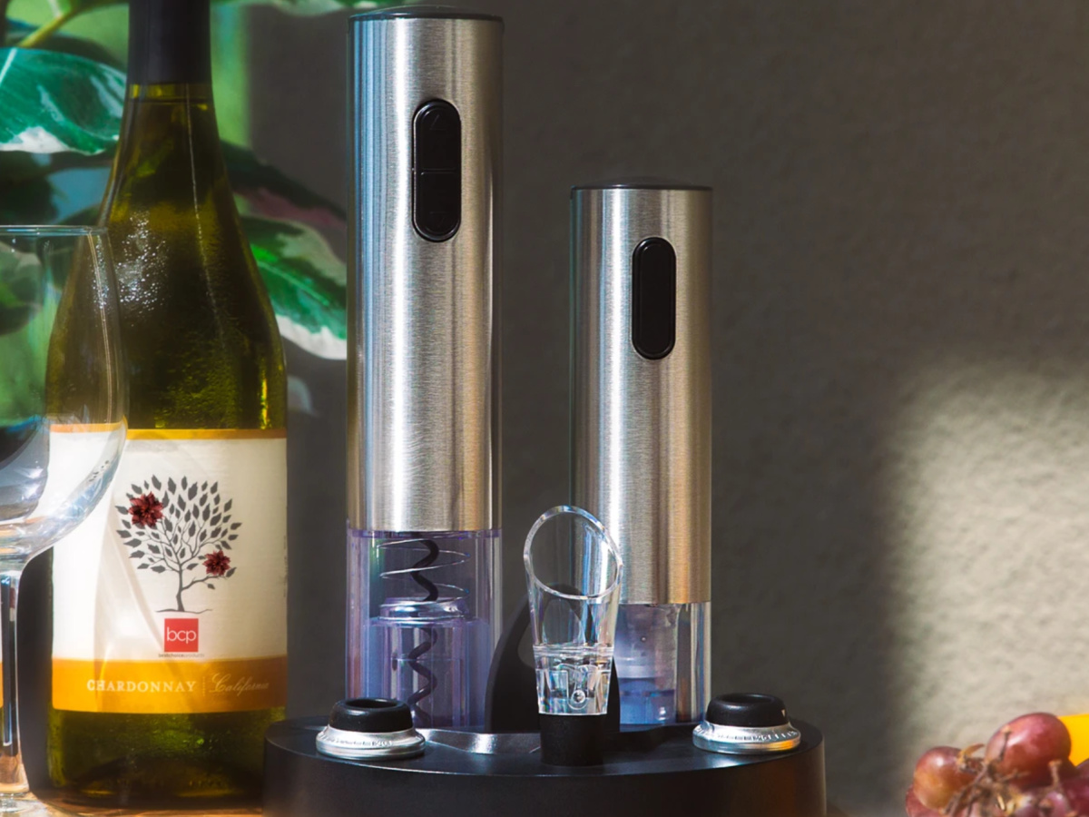 wine set and wine bottle