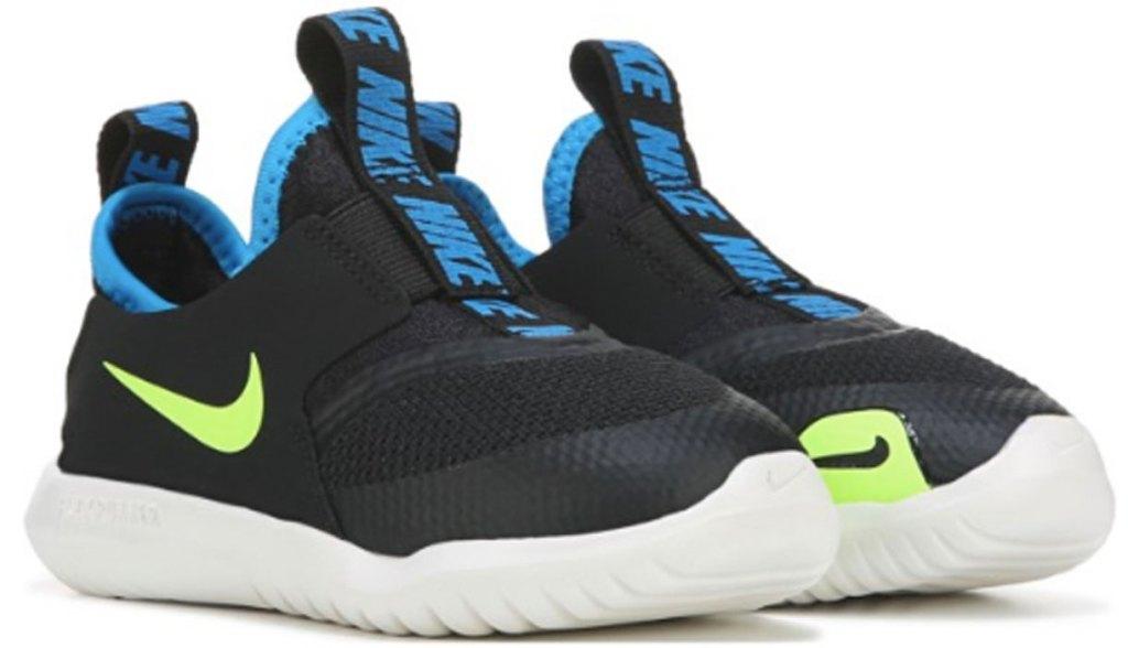 nike kid's flex running shoes stock image