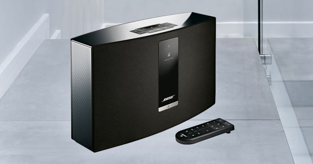 Bose SoundTouch 20 Wireless Speaker stock image in sound room