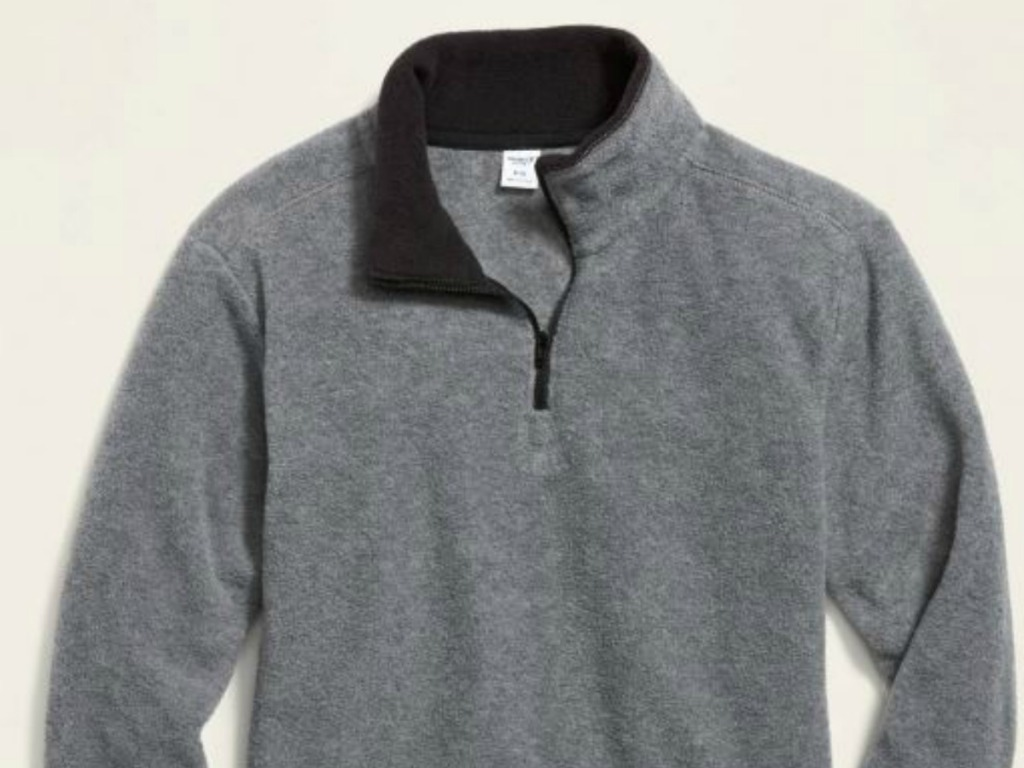 fleece jacket with zipper