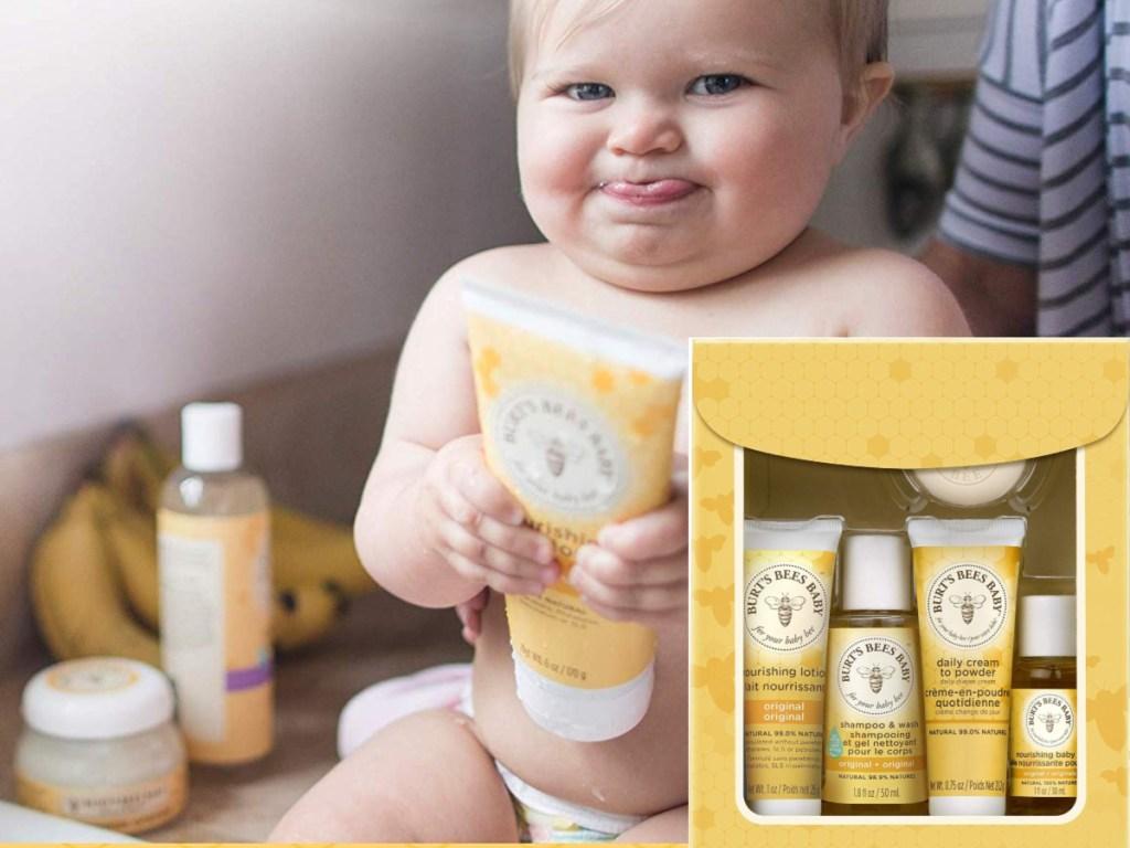 baby and burts bees baby gift set