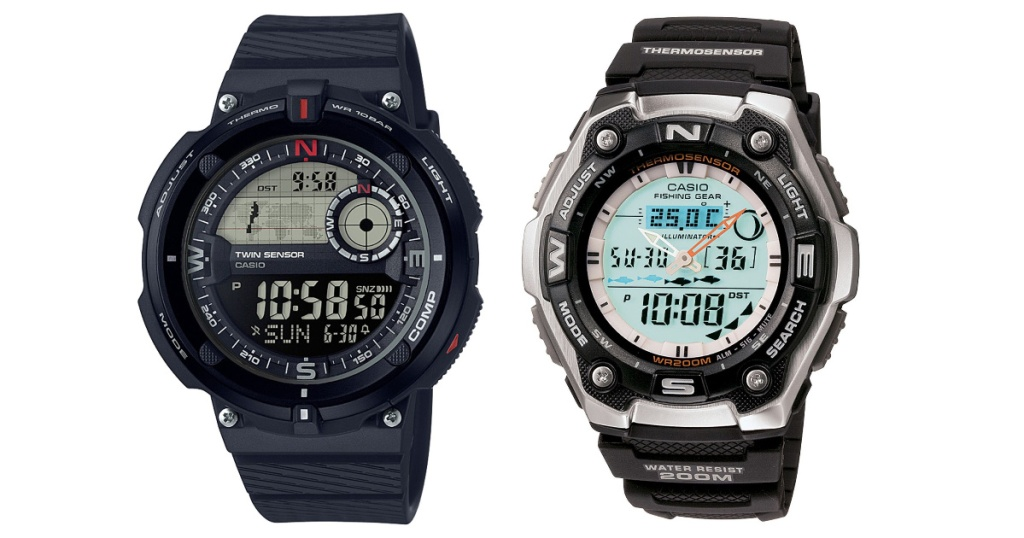 two mens casio watches