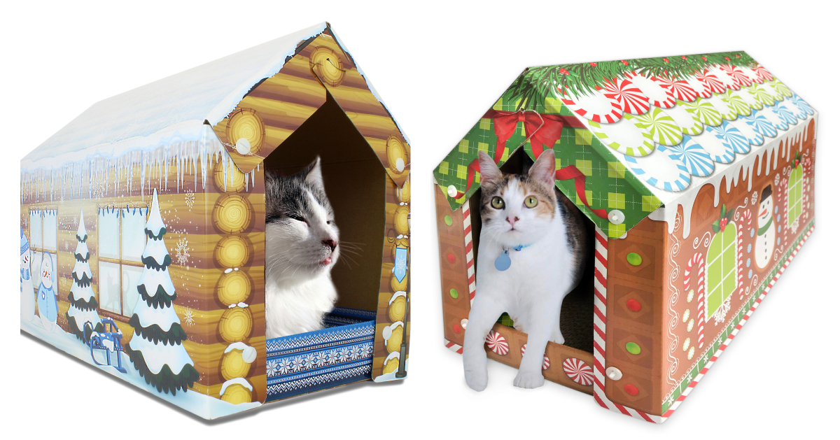 Cat gingerbread houses