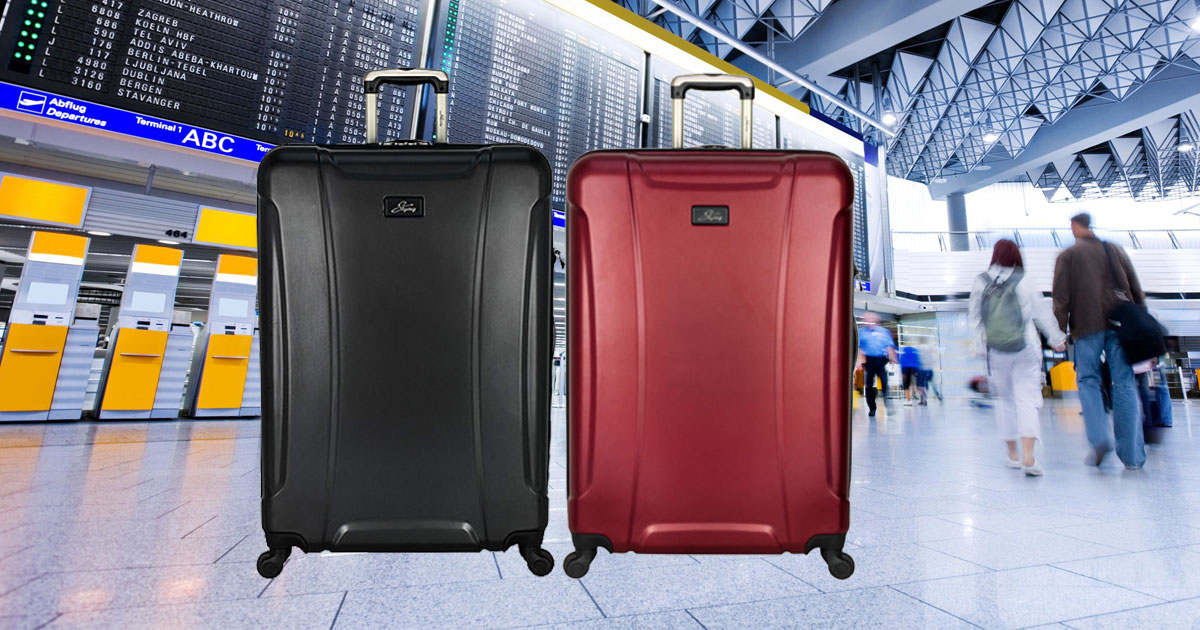 "Skyway Chesapeake 2.0 28"" Hardside Spinner Luggage in an airport"