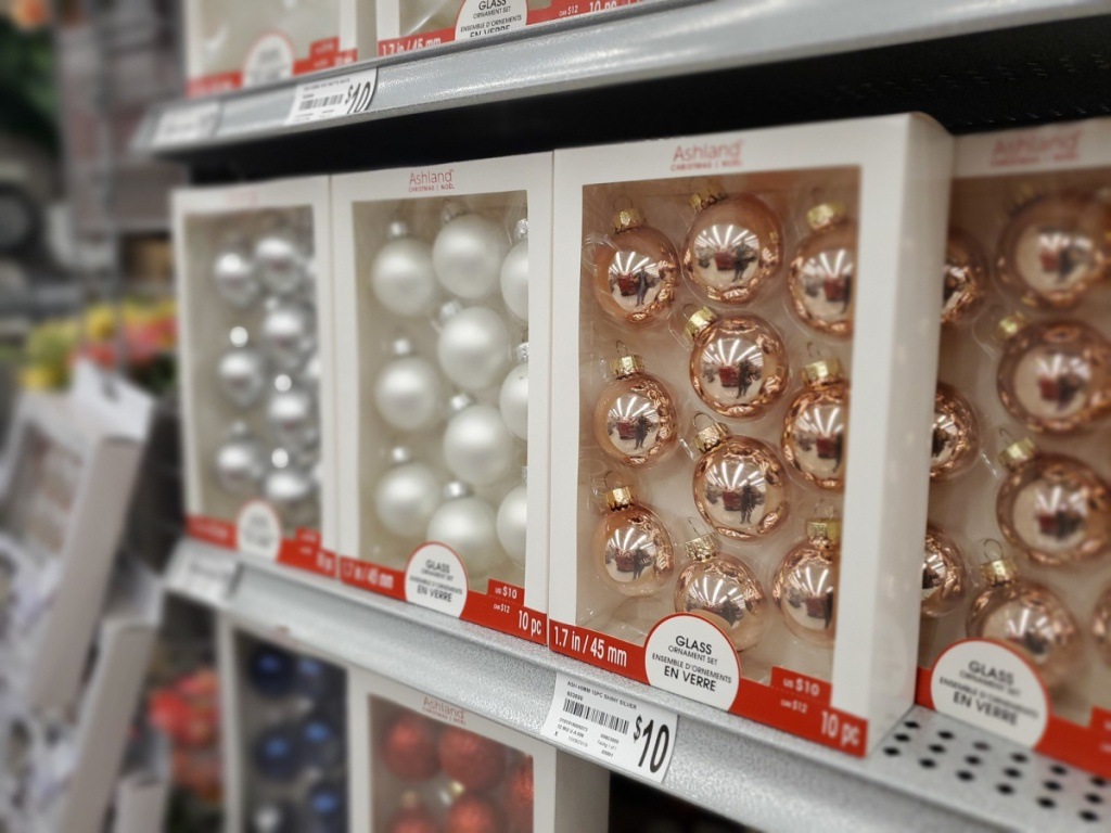 christmas ornaments in store