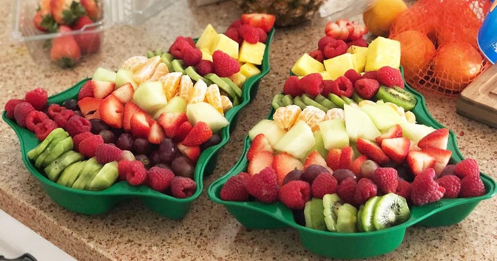 christmas tree fruit platter