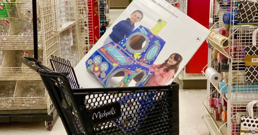 color in submarine playhouse in cart at store