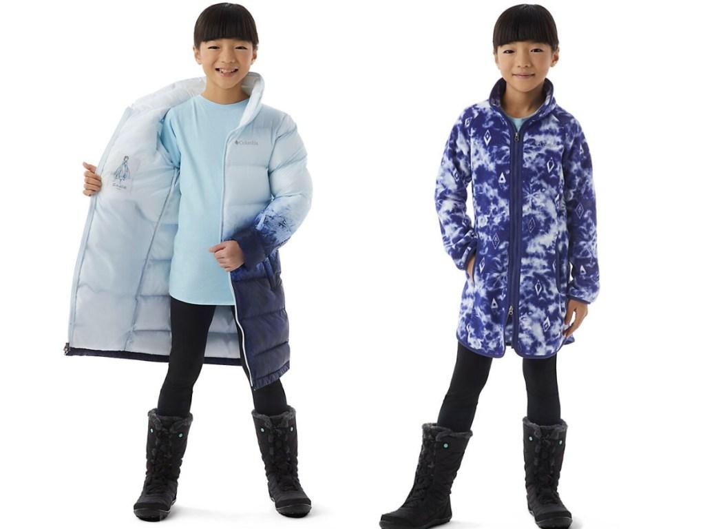 girl modeling puffer coats