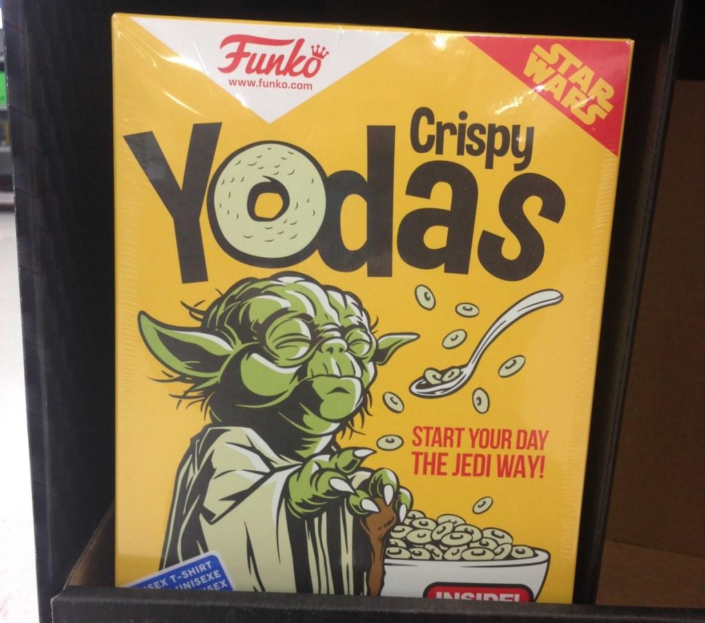 Crispy Yodas boxed T-shirt