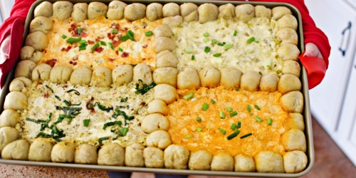 Serve 4 Different Cheese Dips on 1 Sheet Pan – Fun Party Food Idea!