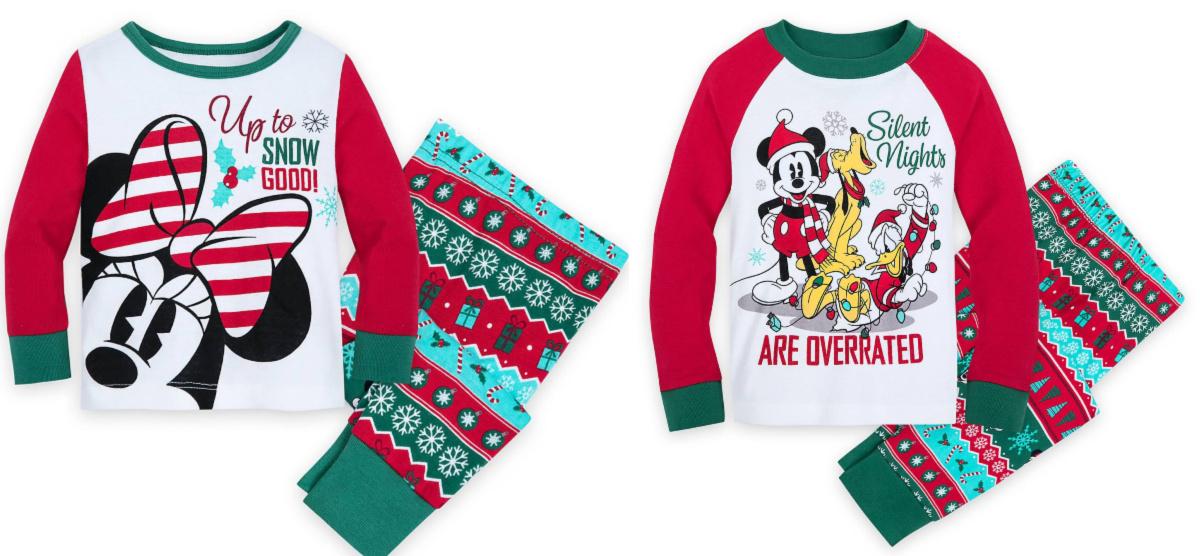 disney christmas pajama sets