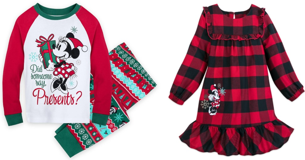 disney girls christmas pajama sets