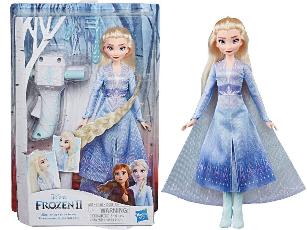 stock image Disney Frozen Long Hair Doll (Elsa or Anna) w/ Automatic Hair Braiding Tool
