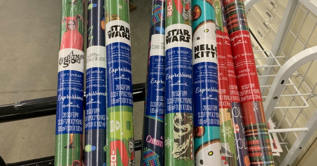 A Christmas Story, Hello Kitty, Star Wars, National Lampoon Christmas wrapping paper
