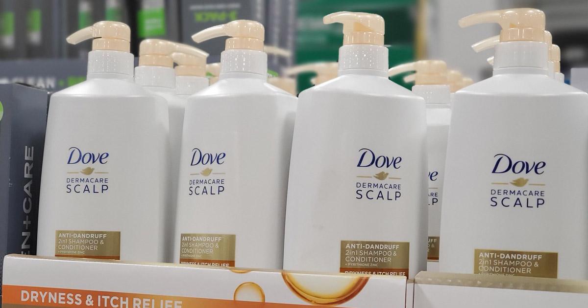 dove dermacare on shelf