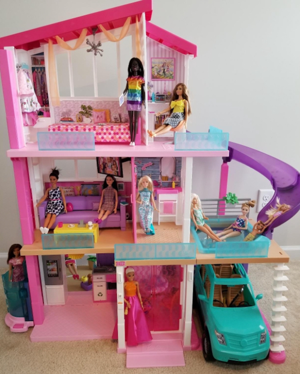 popular kids toys christmas 2020 pink barbie dreamhouse with accessories and dolls