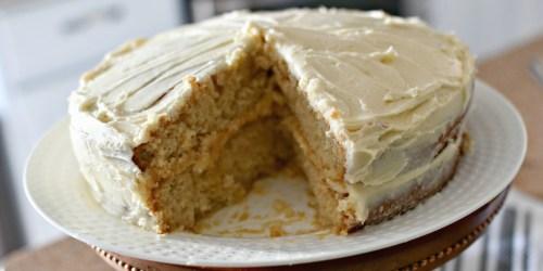 Easy Vanilla Crazy Cake | Eggless, Dairy-Free, and Vegan!