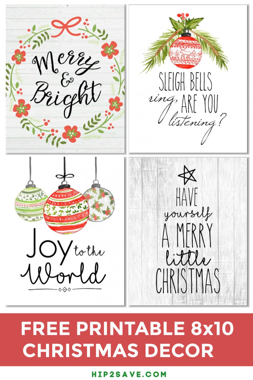 Christmas Farmhouse Style Home Decor Free Digital Printable Formats