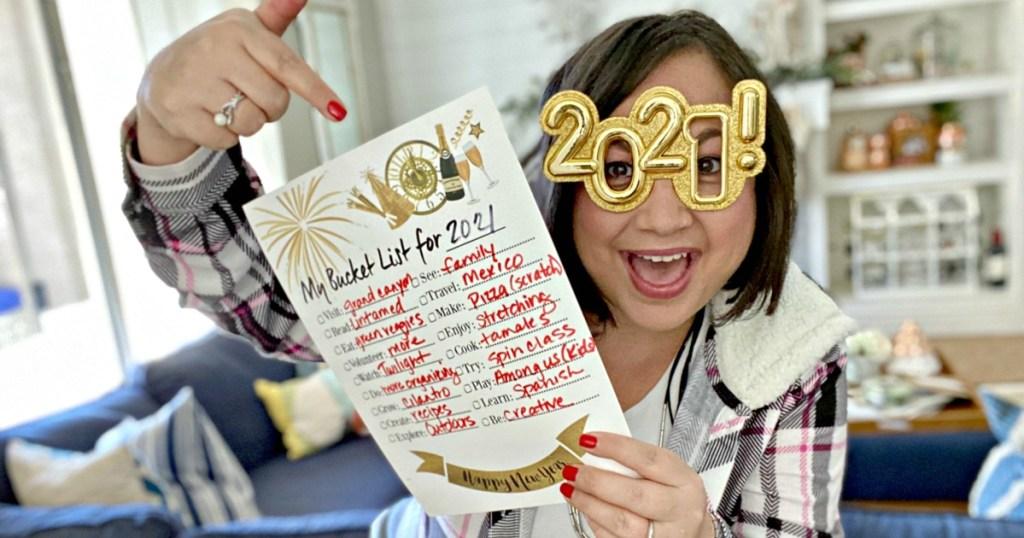 free printable new year's bucket list
