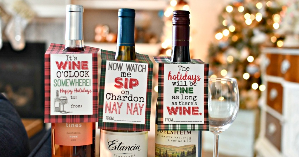 free printable wine gift tags
