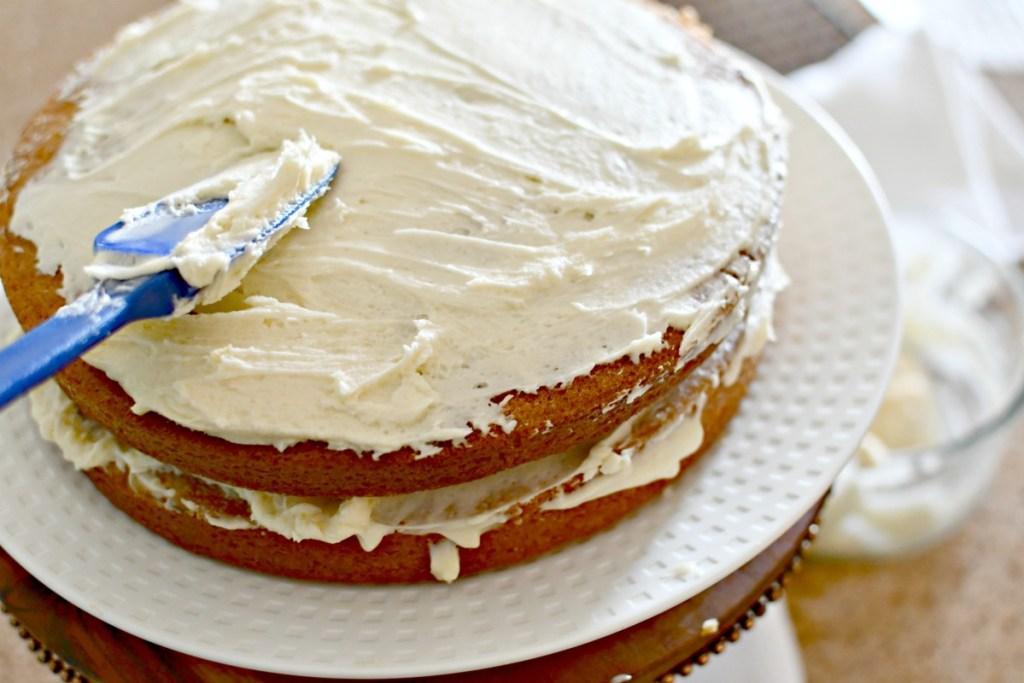 frosting a crazy cake