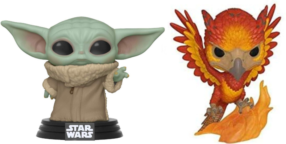 star wars and harry potter funko pop!