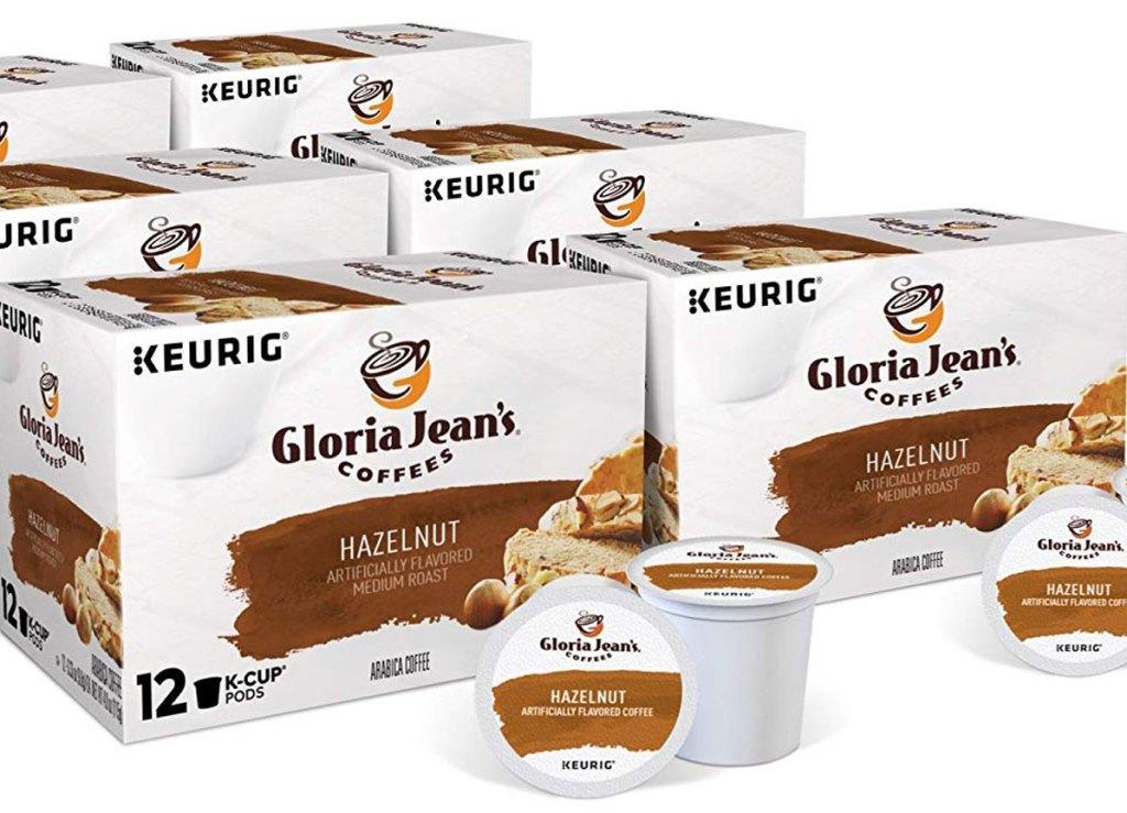 72-count of Gloria Jean's Hazelnut Keurig Single-Serve K-Cup Pods
