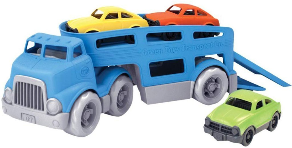 Green Toys Car Carrier Vehicle Set Toy stock image
