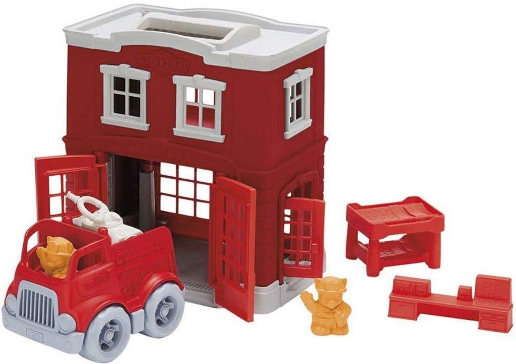 Green Toys Firestation Set stock image