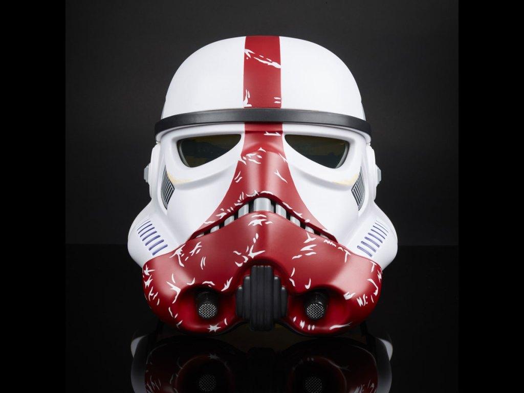 Star Wars Incinerator Stormtrooper Electronic Helmet in black background