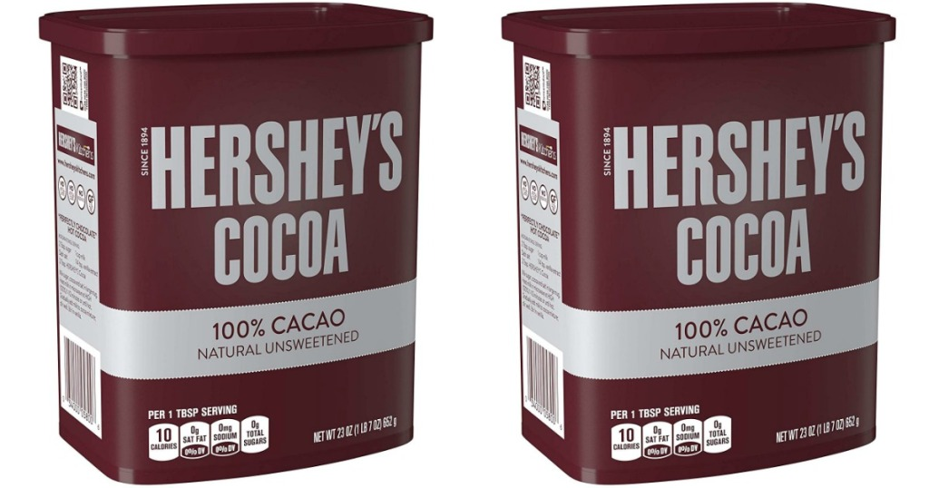 hershey's cocoa 23 oz containers stock images