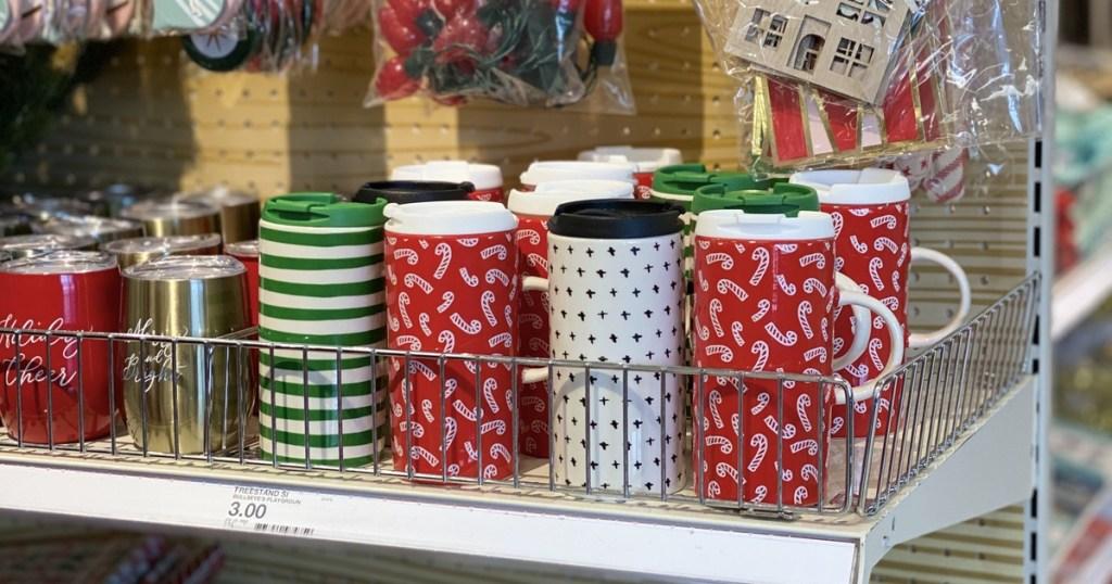 holiday travel mugs at Target