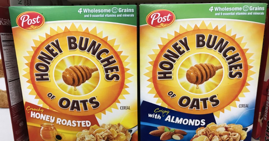 two boxes of cereal