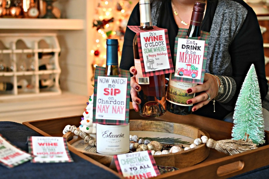 how to gift wine for christmas