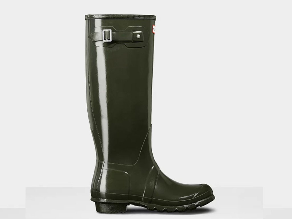 Women's Original Tall Gloss Rain Boots: Slate Gray