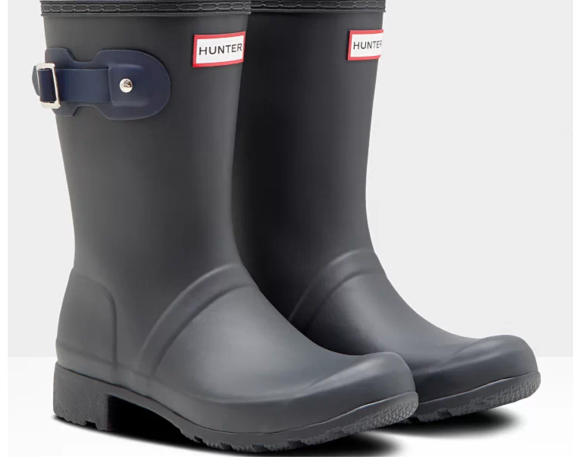 Women's Original Tour Foldable Short Rain Boots: Dark Slate/Navy or Navy/Nimbus