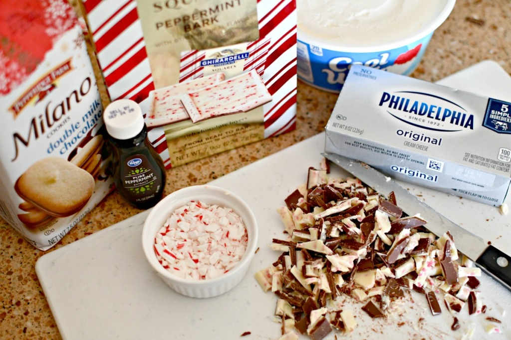 ingredients for peppermint dessert