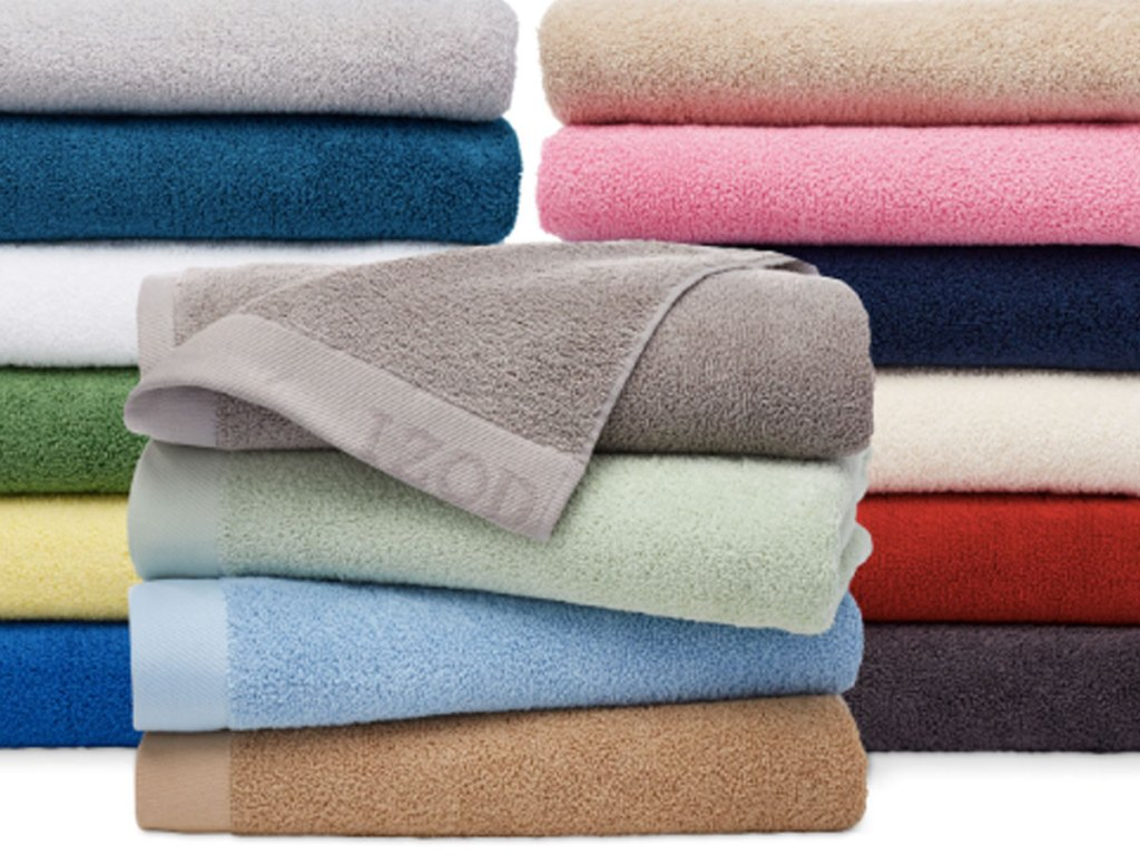 stack of IZOD Classic Egyptian Cotton Bath Towels