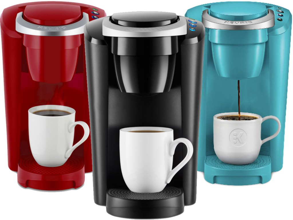 all three colors of the Keurig K-Compact Single-Serve K-Cup Pod Coffee Maker