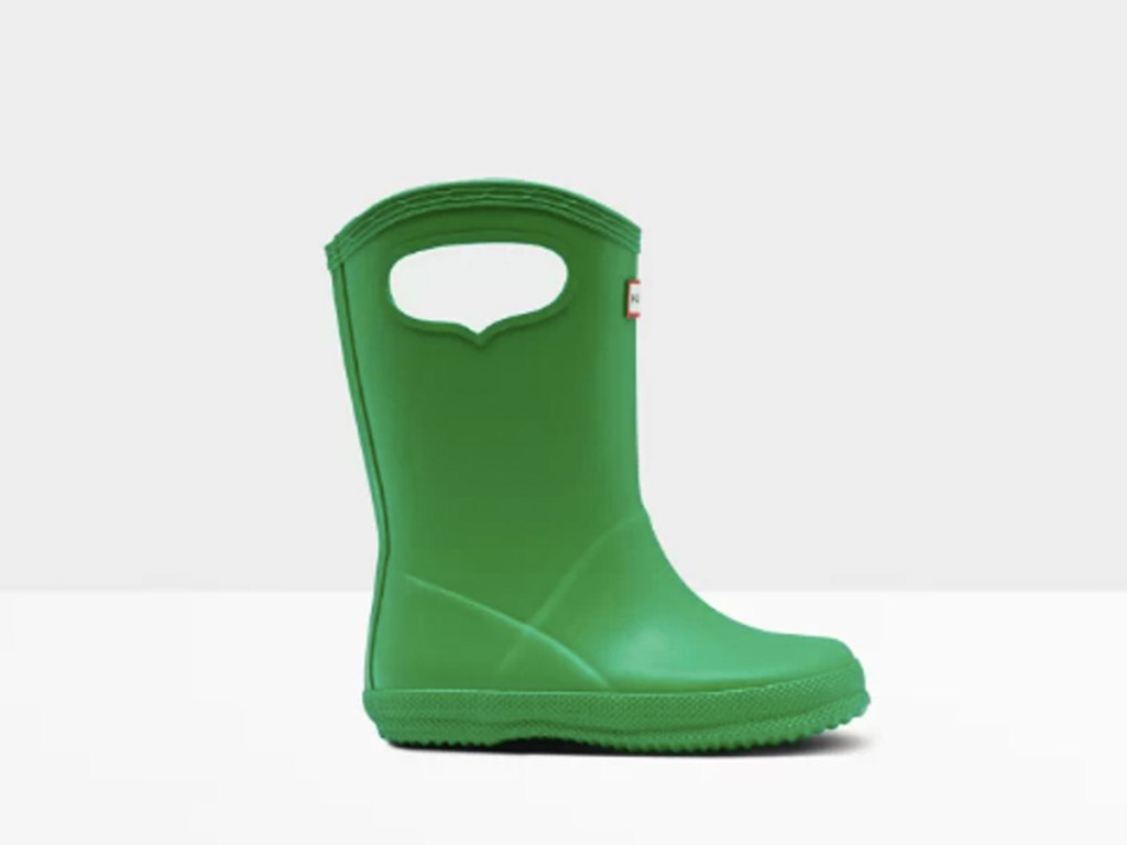 Original Kids First Classic Grab Handle Element Rain Boots: Green, Blue or Red