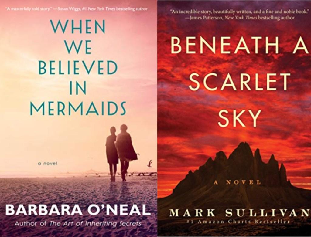 when we believed in mermaids, beneath a scarlet sky book covers