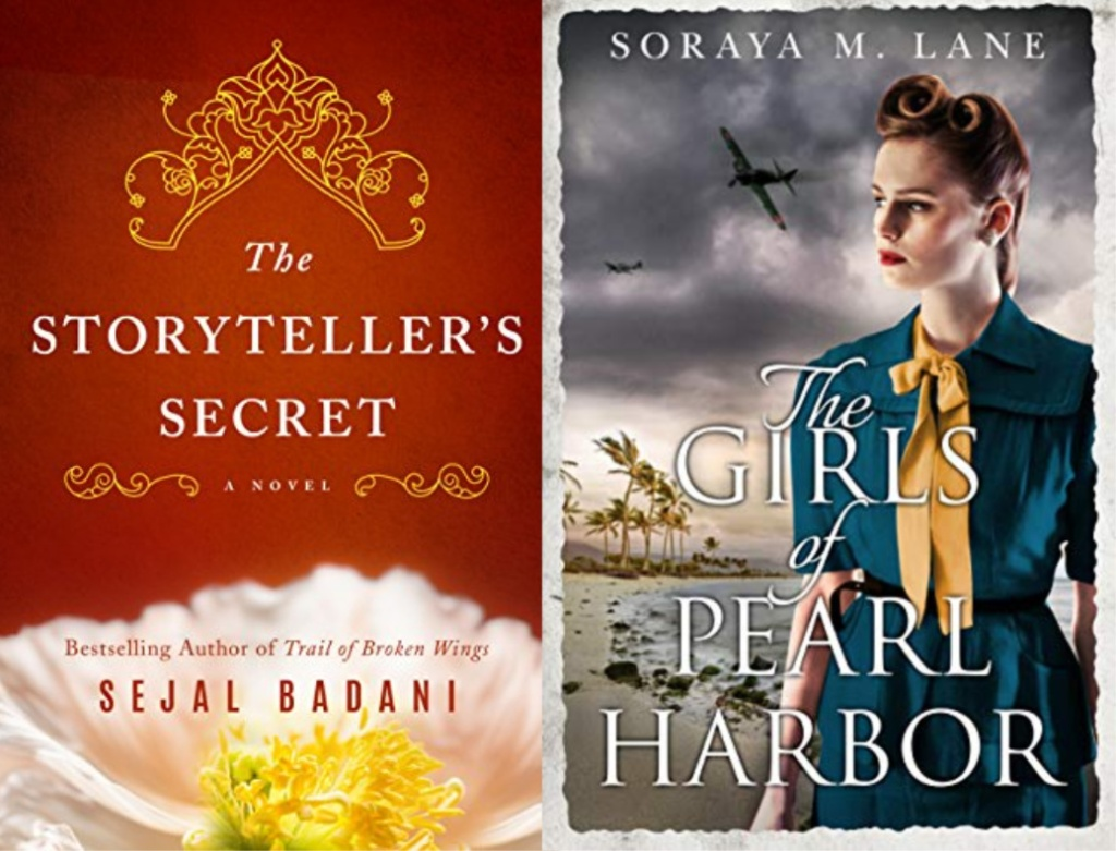 the storytellers secret, the girls of pearl harbor book covers