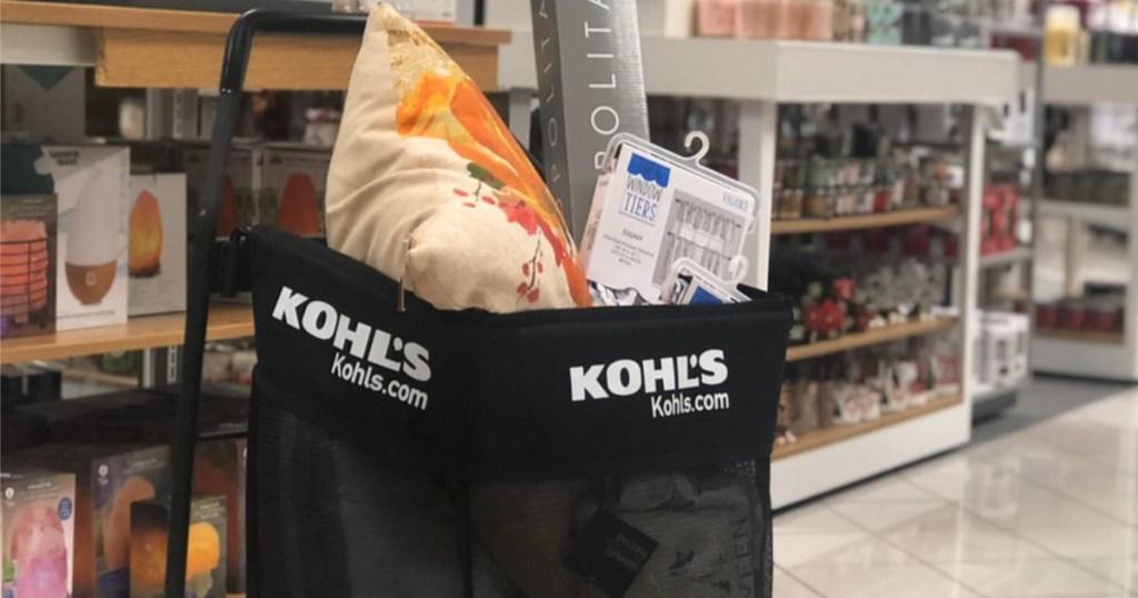 kohl's cart full of items