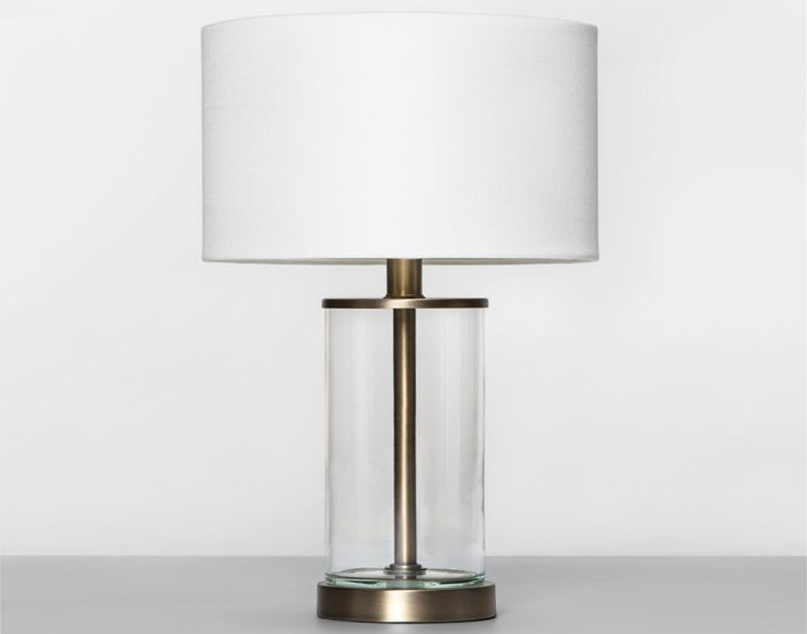 stock image of Project 62 Fillable Accent with USB Table Lamp Brass