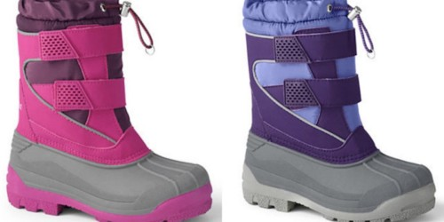 Lands' End Kids Snow Boots Only $14.98 Shipped (Regularly $80) + More