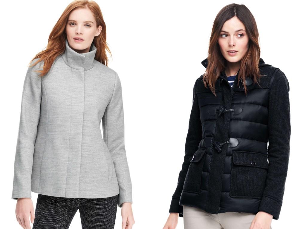 women modeling jackets