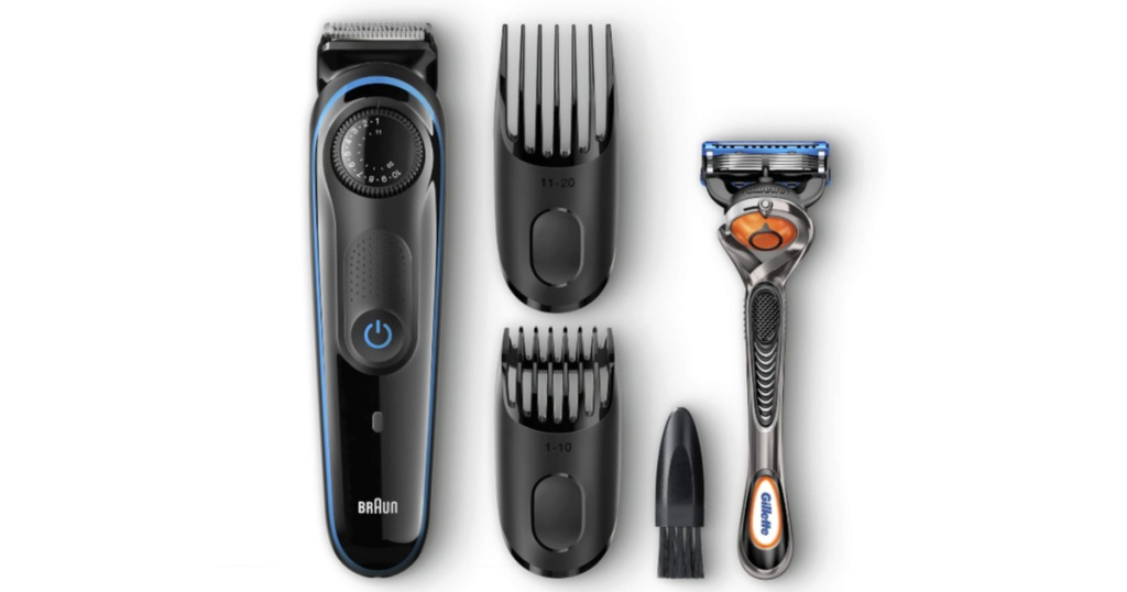 mens braun electric shaving kit