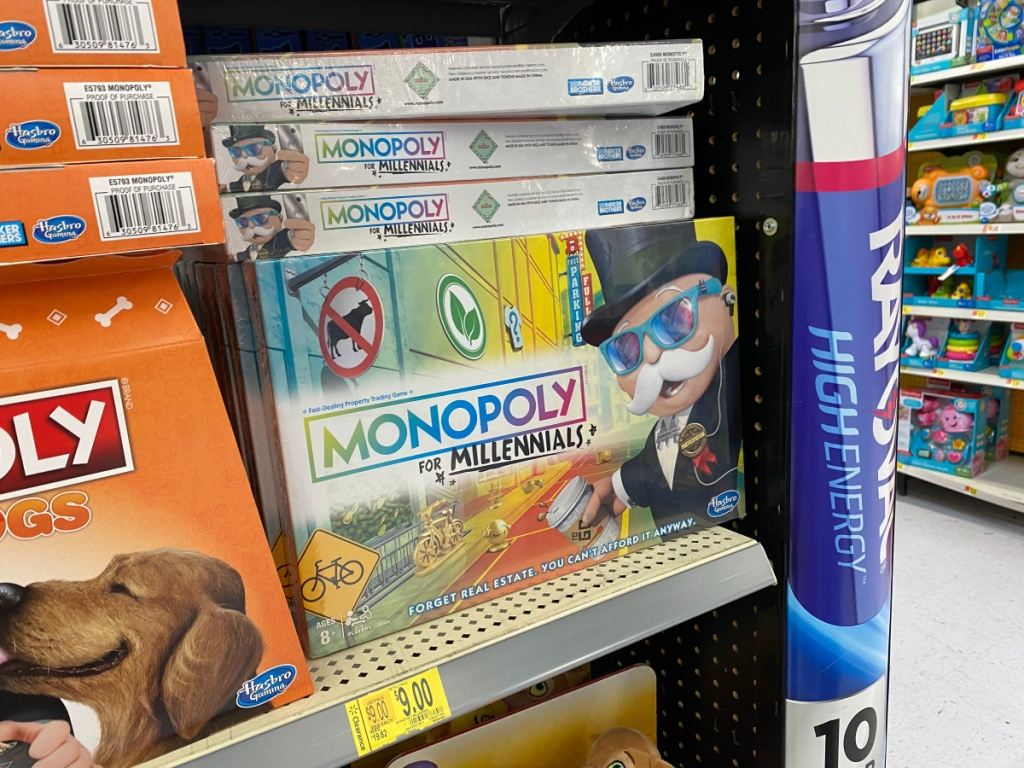 monopoly millennials game in store