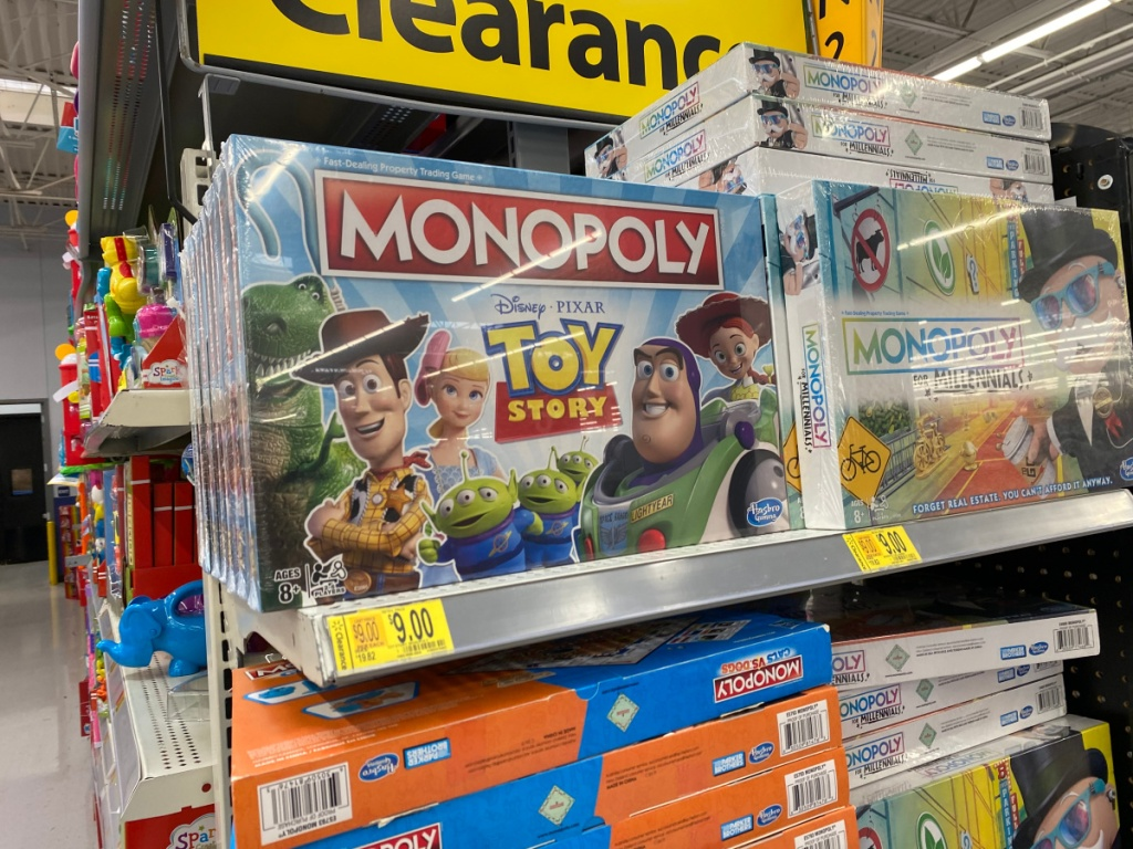 monopoly toy story game in store